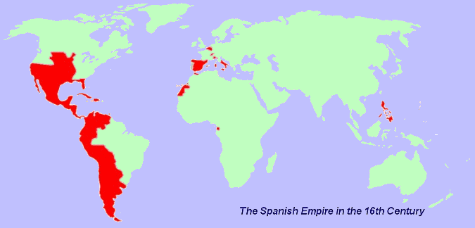 Colonial Exploration And The English - World colonization map 1600 1700